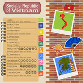 Vietnam  infographics, statistical data, sights — Stock Vector