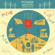Power energy industry infographic, electric systems, set elements for creating your own infographics — Stock Vector #60531553
