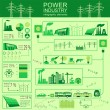 Power energy industry infographic, electric systems, set elements for creating your own infographics — Stock Vector #60532525