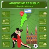Argentina infographics, statistical data, sights. — Stock Vector