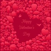 Valentine's day invitations design — Vector de stock