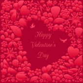 Valentine's day invitations design — Vecteur