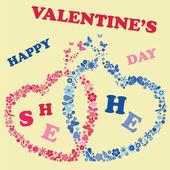Valentine's day invitations design — Διανυσματικό Αρχείο