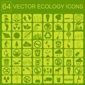 Environment, ecology icon set. Environmental risks, ecosystem — Stock Vector