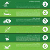 Environment, ecology infographic elements. Environmental risks,  — Wektor stockowy