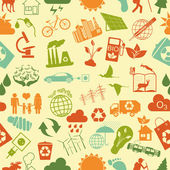 Environment, ecology seamless, pattern. Environmental background — Stock Vector