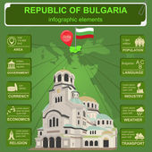 Bulgaria  infographics, statistical data, sights — Stock Vector