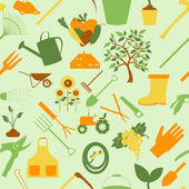 Gardening background. Seamless Pattern — Vecteur