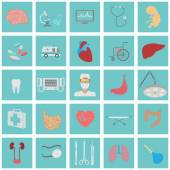 Medical and healthcare icon set — Stock Vector