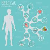 Medical and healthcare infographic, Cardiology infographics. — Stockvektor