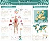 Medical and healthcare infographic, elements for creating infogr — Vector de stock
