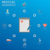 Medical and healthcare infographic, elements for creating infogr — Stock Vector