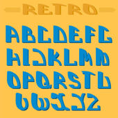 Retro styled font. Design elements. — Stock Vector