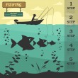 Fishing infographic elements. Set elements for creating your own — Stock Vector #68781339