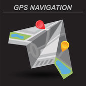 Global Positioning System, navigation.  — Stockvektor