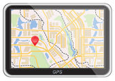 Global Positioning System, navigation.  — Stockvector