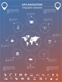 Global Positioning System, navigation. Infographic template — Stockvector
