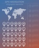 Global Positioning System, navigation. Infographic template — Stockvektor