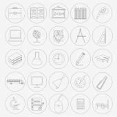 Edukacja zestaw ikon — Wektor stockowy