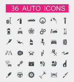 Set of car service icons — Stock Vector