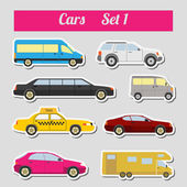 Set of elements passenger cars for creating your own infographic — Stock Vector