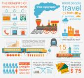 Railway infographic. Set elements for creating your own infograp — Stockvector