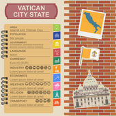 Vatican infographics, statistical data, sights — Stock Vector