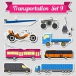 Set of all types of transport icon  for creating your own infogr — Stock Vector #75562113