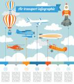 Air transport infographics element — Stockvektor