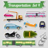 Set of all types of transport icon  for creating your own infogr — Stock Vector