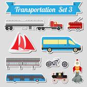 Satz von allen Arten von Transport-Symbol zum Erstellen Ihrer eigenen infogr — Stockvektor