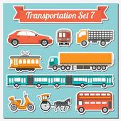 Ensemble de tous les types d'icône de transport permettant de créer votre propre infogr — Vecteur