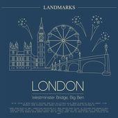 World landmarks. London. United Kingdom.Westminster Abbey, the B — 图库矢量图片
