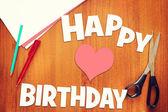 Concept of birthday greetings — Stockfoto
