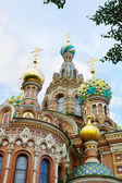 Architecture of Temple of the Savior on Blood, Saint-Petersburg, — Стоковое фото