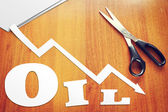 Concept of decline in oil prices — Stock Photo