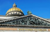 Bas-relief of Saint Isaac's Cathedral in St. Petersburg. Russia — Stock Photo