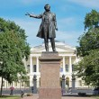 Monument of Alexander Pushkin, famous Russian poet. Arts Square, St.Petersburg, Russia — Stock Photo #69165161