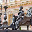 Monument to the Russian emperor Paul the First next to Mikhailovsky Palace, Saint-petersburg, Russia — Stock Photo #69165653