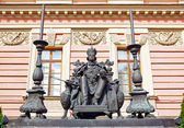 Monument to the Russian emperor Paul the First by the Mikhailovsky Palace, Saint-petersburg, Russia — Stock Photo
