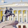 Monument to the tsar Peter the Great in front of the Constitutional Court, Saint-petersburg, Russia — Stock Photo #69801927