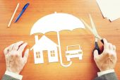Concept of personal property insurance — Stock Photo