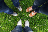 In a circle of friends — Stock Photo