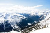 Winter panorama of mountains — Foto Stock