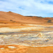 Hverir, a geothermal area in North Iceland with boiling mudpools and steaming fumaroles. — Stock Photo #54179453