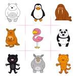 ensemble d'animaux — Vecteur #59315479