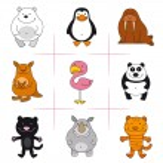 conjunto de animais — Vetor de Stock  #59315479