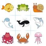 conjunto de animais — Vetor de Stock  #59315677