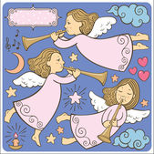 Set of the angels — Stock Vector