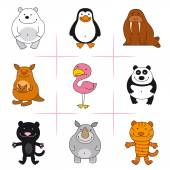 Set of animals — Stock Vector